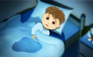 мальчик в мокрой постели