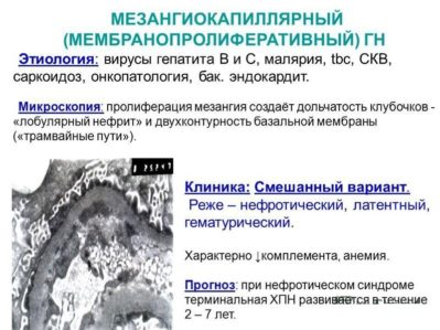 Мезангиокапиллярный ГН