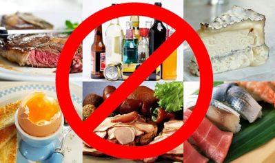 запрет на еду