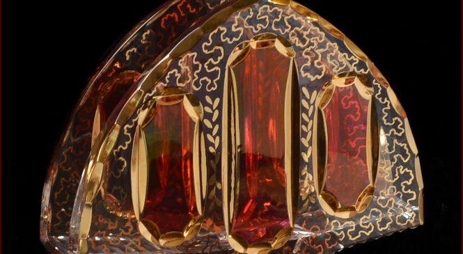 Napkin-holders in Aleks-Crystal.com — bohemia cut crystal E-shop